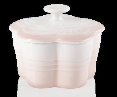 Le Creuset Blumen-Förmchen mit Deckel in shell pink