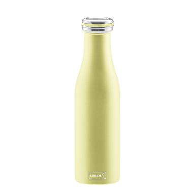 Lurch Isolierflasche in pearl yellow, doppelwandig