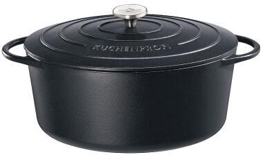 Küchenprofi Gänsebräter oval Provence in schwarz