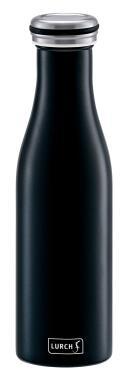Lurch Isolierflasche in mattschwarz, doppelwandig