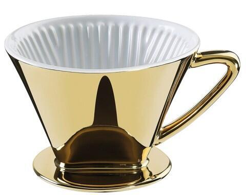 Cilio Kaffeefilter Größe 4 Gold