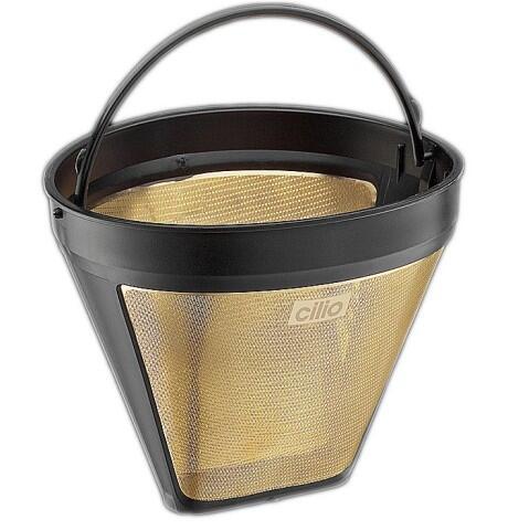 Cilio Gold-Dauer-Kaffeefilter Größe 4