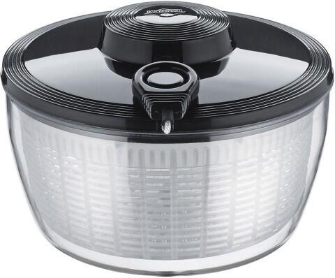 Küchenprofi Salatschleuder mit Seilzugtechnik in schwarz
