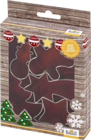 Birkmann Ausstechform-Set Weihnachten, 5-teilig