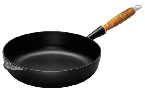Le Creuset Sauté-Pfanne aus Gusseisen in schwarz