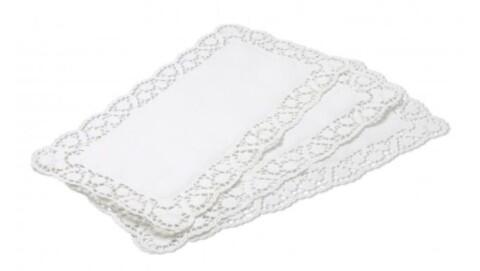 Kaiser eckige Tortenspitzen Pâtisserie aus Papier, 6 Stück