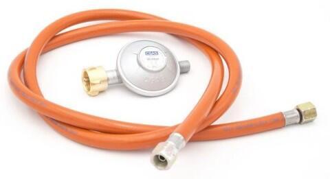 Allgrill Gasdruckminderer mit Gasschlauch,  30 mbar