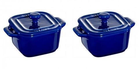 Staub XS-Mini Cocotte in dunkelblau, 2er Set