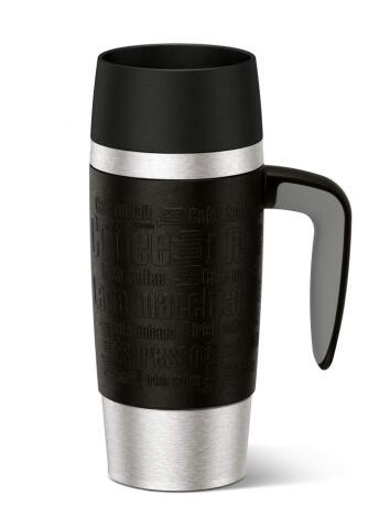 Emsa Isolier-Trinkbecher Travel Mug Handle in schwarz