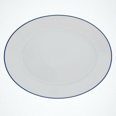 Kahla Aronda Platte, oval 32 cm in Blaue Linie
