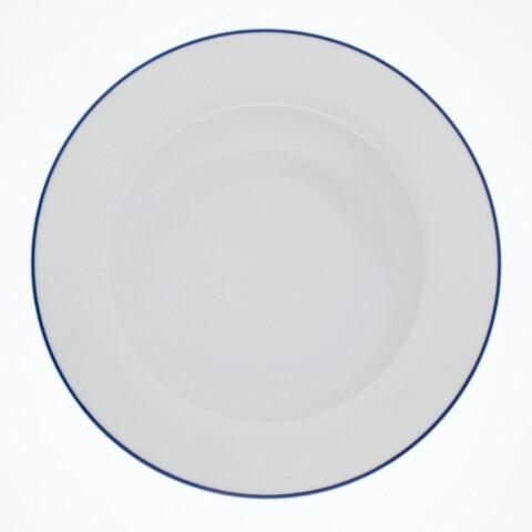 Kahla Aronda Suppenteller 23 cm in Blaue Linie