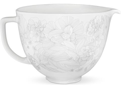 KitchenAid Keramikschüssel in whispering floral, 4,7 L