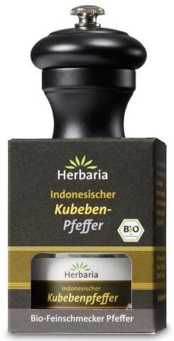 Herbaria Geschenkset Kubebenpfeffer mit Peugeot  Pfeffermühle Bistro