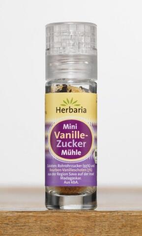 Herbaria Vanille-Zucker, 18 g Mini-Mühle
