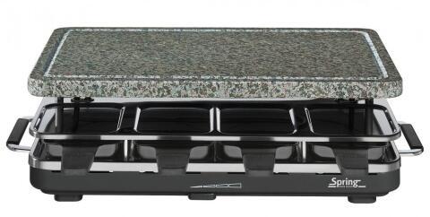 Spring Raclette8 mit Granitstein in schwarz