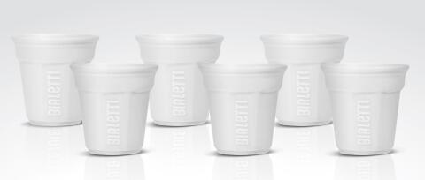Bialetti Espressobecher White, 6er-Set