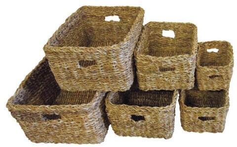 Benguela Trading Korb-Set rechteckig, 6-teilig