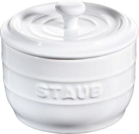 Staub Salzgefäß in weiß