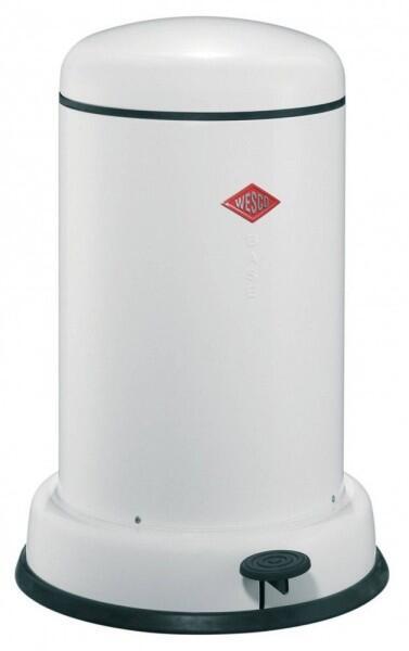 Wesco Baseboy 15 Liter mit Dämpfer in weiß