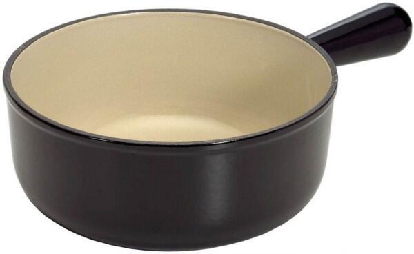 Le Creuset Caquelon aus Gusseisen in schwarz