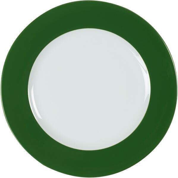 Eschenbach Porzellan Teller flach 31,5 cm in dunkelgrün