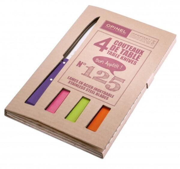 Opinel Tafelmesser-Set Esprit Pop, 4-teilig