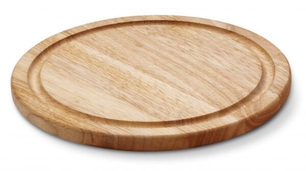 Continenta Steakteller rund aus Gummibaumholz, 30 cm