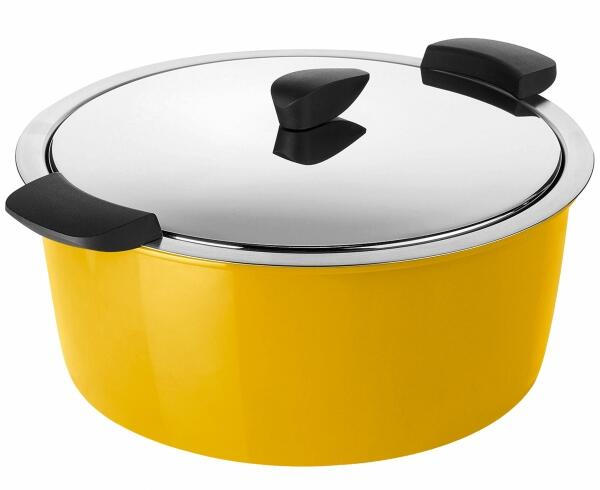 Kuhn Rikon Hotpan Gourmettopf in gelb, 4,5 L