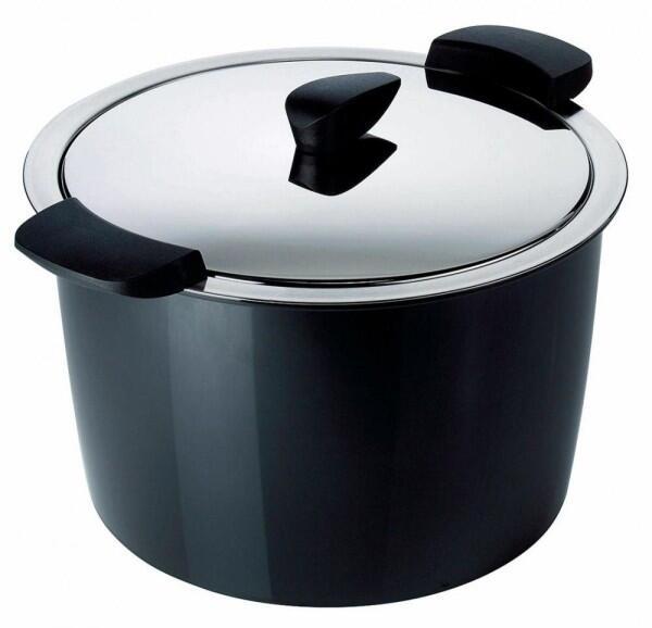 Kuhn Rikon Hotpan Servierkochtopf in schwarz, 5 L