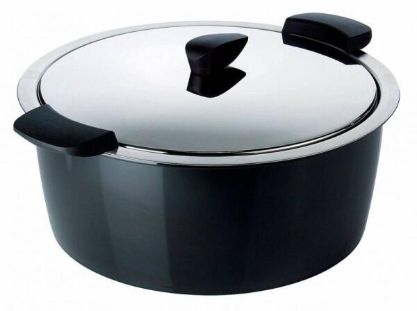 Kuhn Rikon Hotpan Gourmettopf in schwarz, 4,5 L