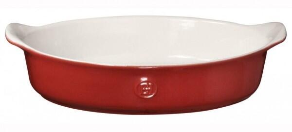 Emile Henry Gratinform Modern Classics oval in rot
