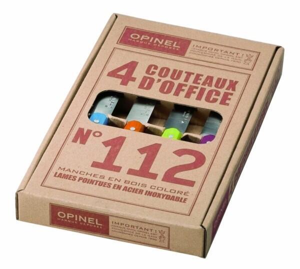 Opinel Küchenmesser-Set Pop Officemesser, 4-teilig