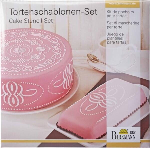 Birkmann Torten Schablonen-Set Ornament, 2-teilig