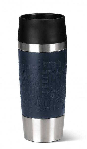 Emsa Isolier-Trinkbecher mit Manschette Travel Mug in blau