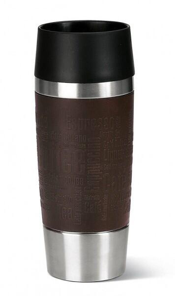 Emsa Isolier-Trinkbecher mit Manschette Travel Mug in braun