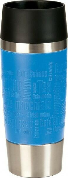 Emsa Isolier-Trinkbecher mit Manschette Travel Mug in wasserblau