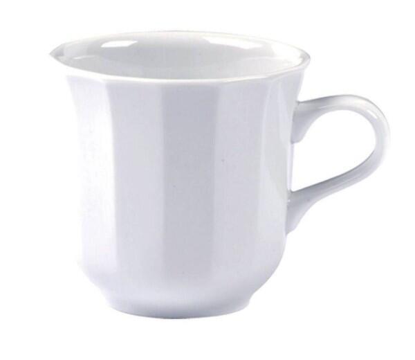Pillivuyt Tasse mit Henkel Eclectique in weiß