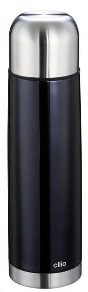 Cilio Isolierflasche Colore in schwarz
