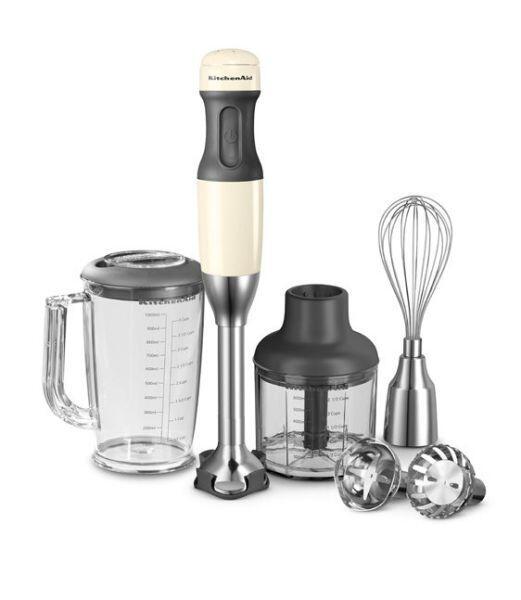 KitchenAid Stabmixer-Set in creme