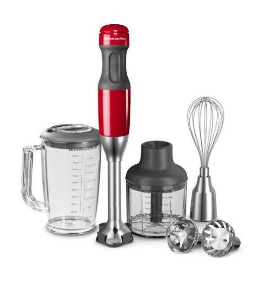 KitchenAid Stabmixer-Set in rot