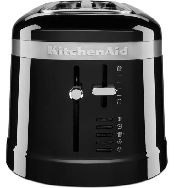 KitchenAid Design 4-Scheiben Langschlitztoaster in onyx schwarz