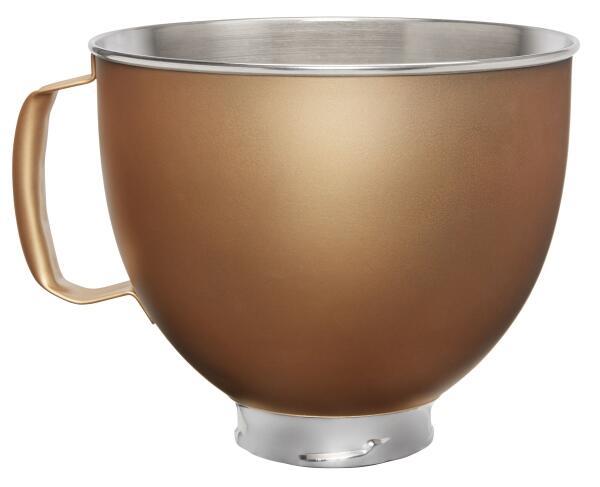 KitchenAid Edelstahlschüssel in matt gold, 4,8 L