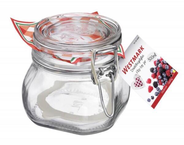 Westmark Fido Drahtbügelglas mit Gummiring, 500 ml