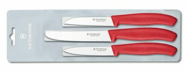 Victorinox SwissClassic Gemüsemesser-Set, rot, 3-teilig