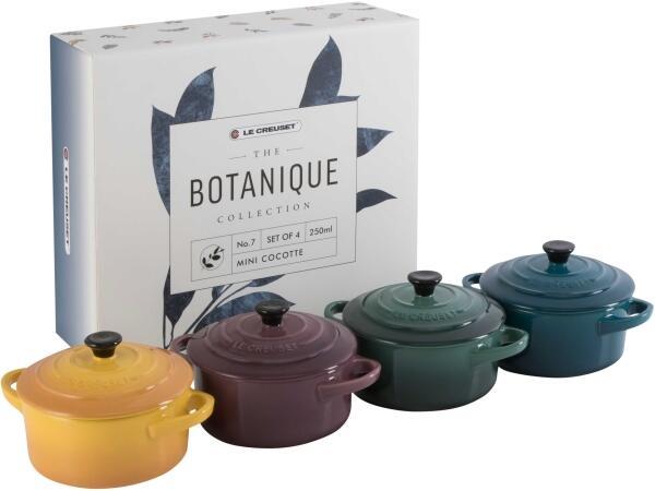 Le Creuset Mini-Cocotte 4er-Set, Botanique