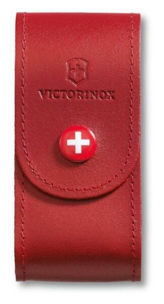 Victorinox Gürteletui aus Leder in rot