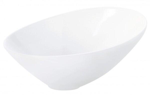 ASA asymmetrische Schale Vongole in weiß