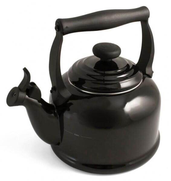 Le Creuset Wasserkessel Tradition schwarz