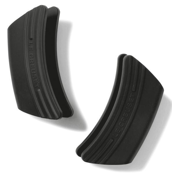 Le Creuset Topf-Griffschutz aus Silikon in schwarz, 2er Set