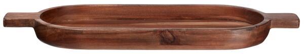 ASA Holzbrett, oval wood dark aus Akazie